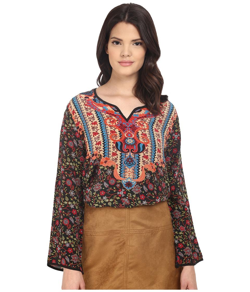 Tolani - Namita Long Sleeve Blouse (Slate) Women's Blouse