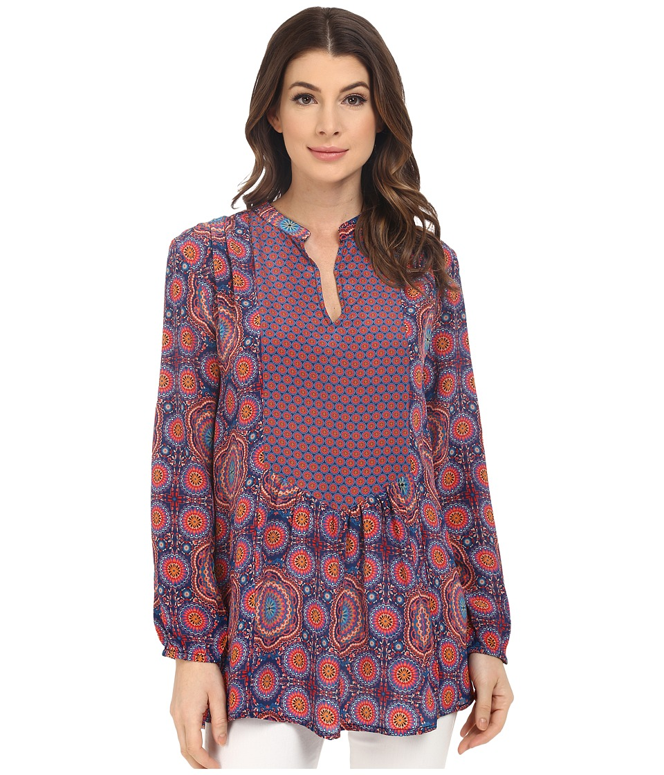 Tolani - Cynthia Long Sleeve Blouse (Circles) Women's Blouse