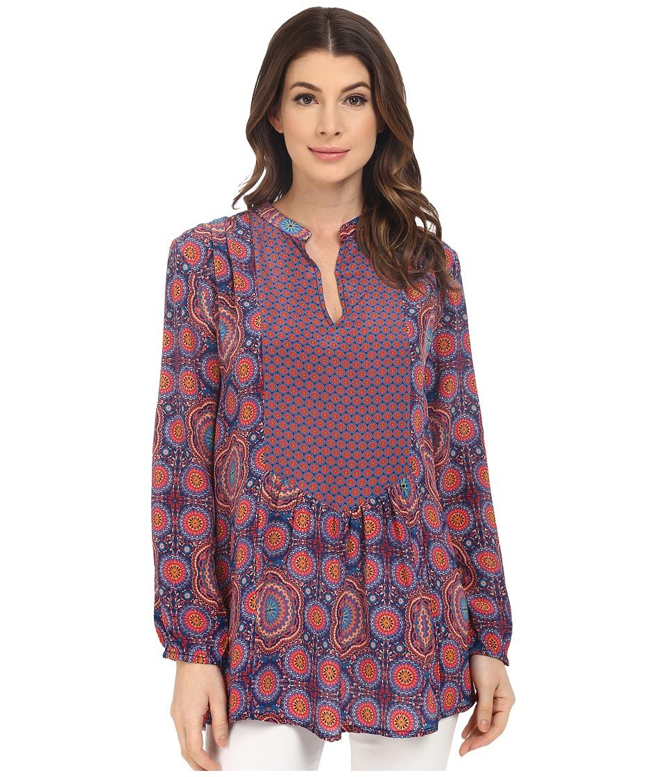 Tolani - Cynthia Long Sleeve Blouse (Circles) Women's Blouse