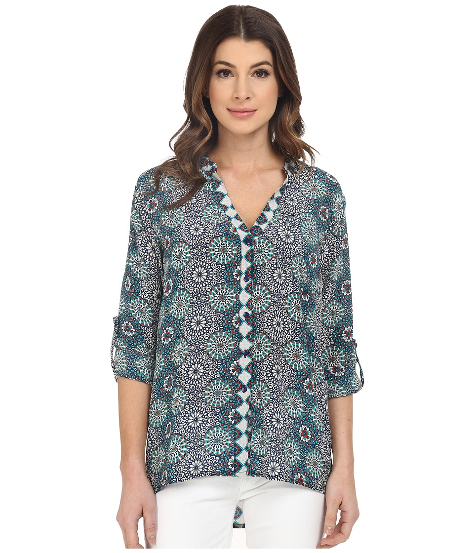 Tolani - Amy Button Up Top (Dreamcatcher) Women's Clothing