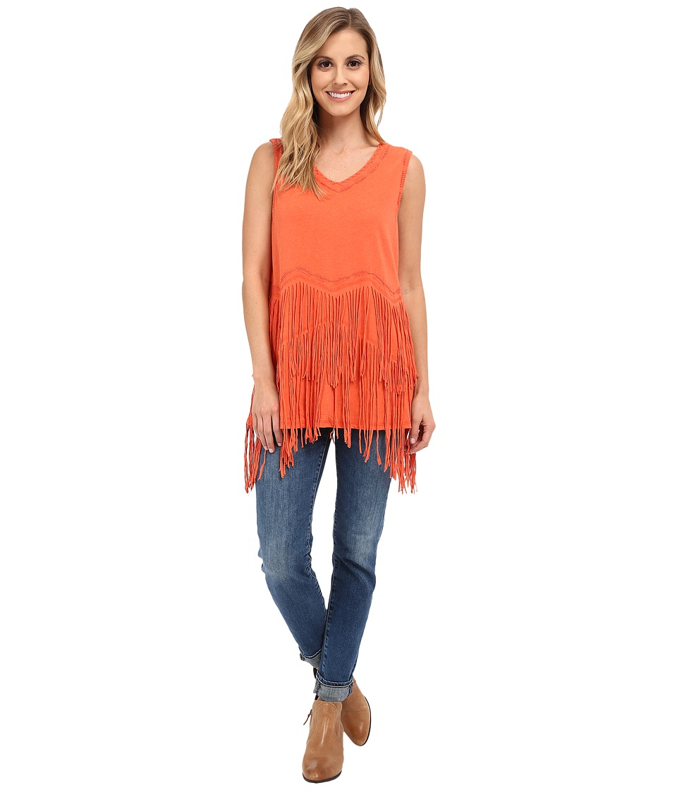 Double D Ranchwear - Buckeye Boo Tank Top (Apricot) Women's Sleeveless