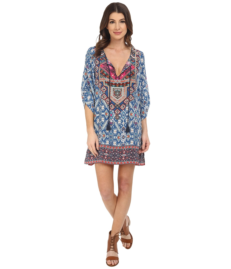 Tolani - Sasha Tunic Dress (Blue) Women's Dress