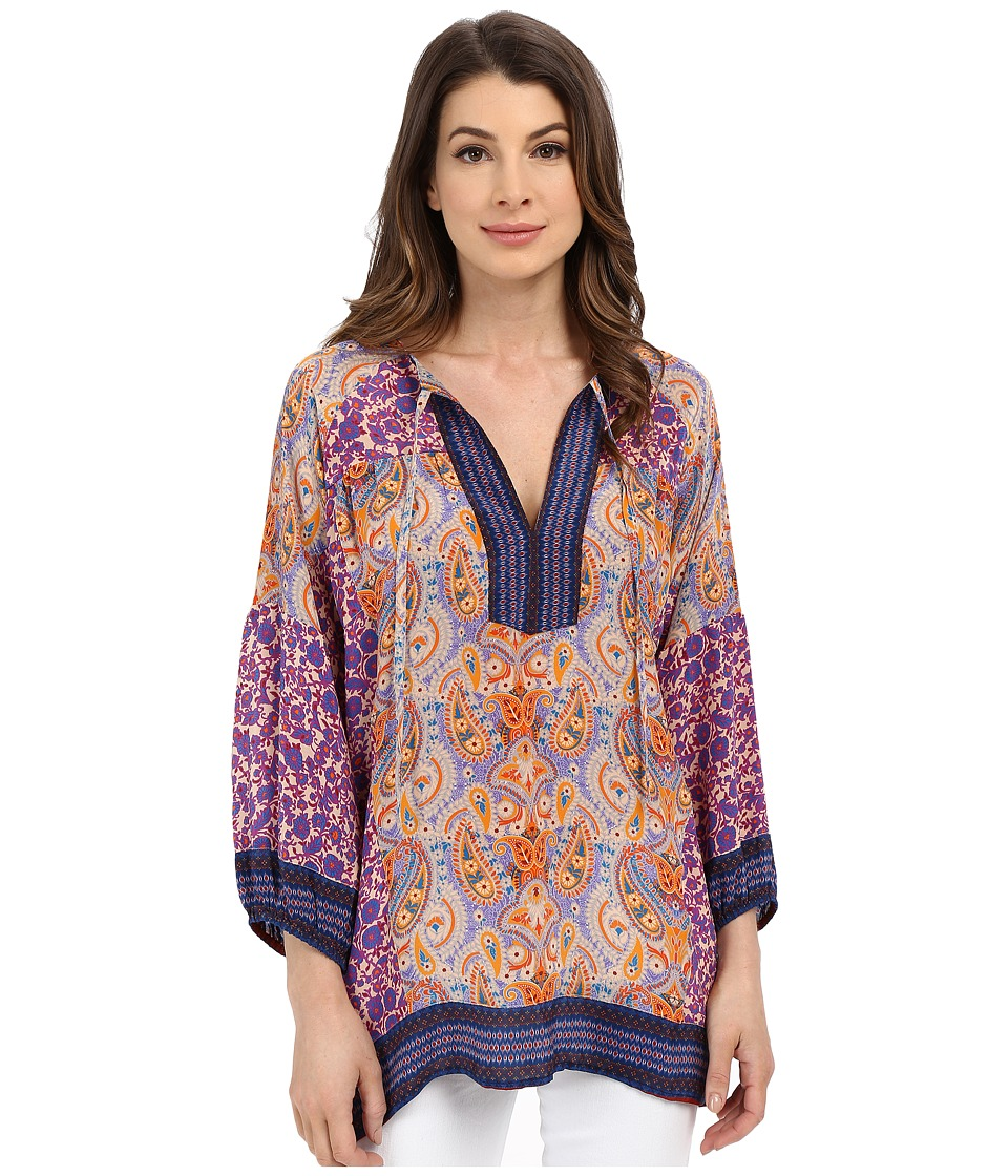 Tolani - Tanya Long Sleeve Blouse (Violet) Women's Blouse