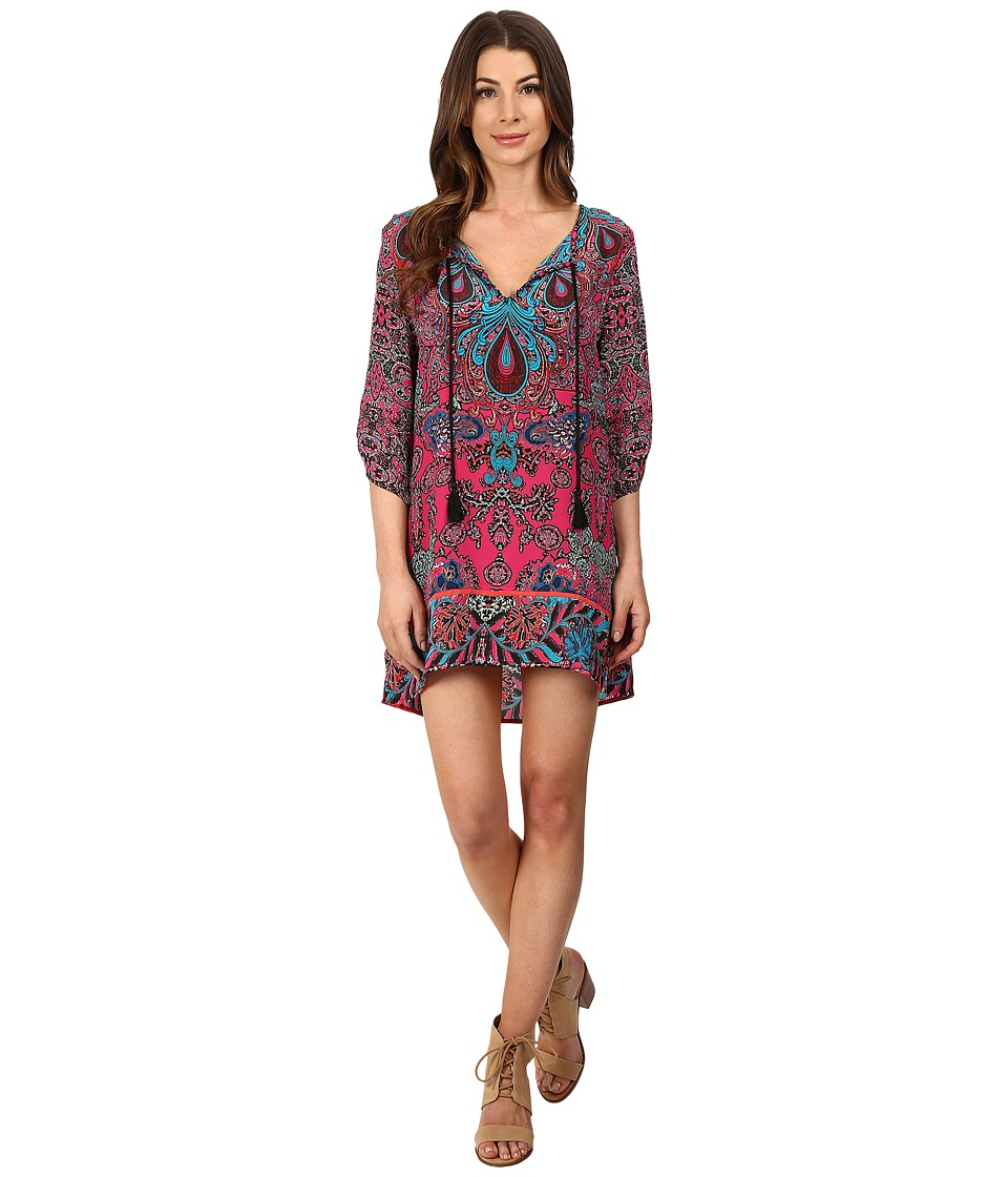 Tolani - Teardrop Tunic Dress (Punch) Women's Dress