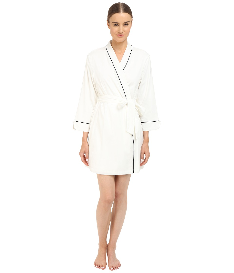 Kate Spade New York - Goodnight Terry Lined Wrap (Off-White) Women's Robe