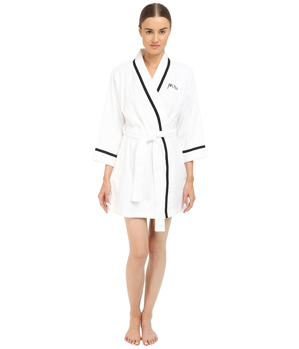 Kate Spade New York - Terry Wrap (Fresh White Mrs) Women's Robe