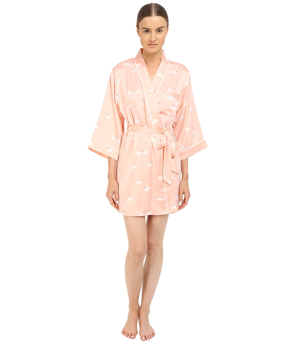 Kate Spade New York - Charmeuse Wrap (Lady Swans) Women's Robe