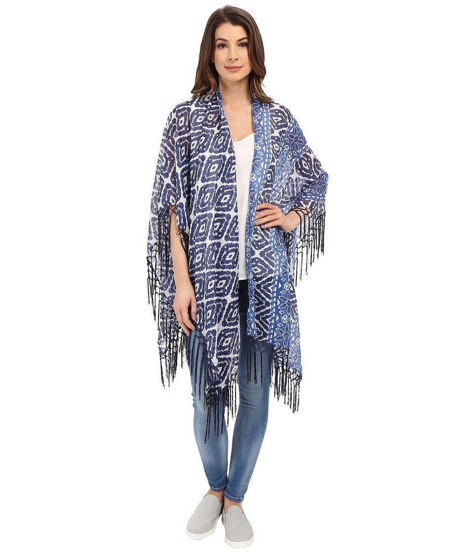Tolani - Wrap Kimono (Blue) Women's Blouse