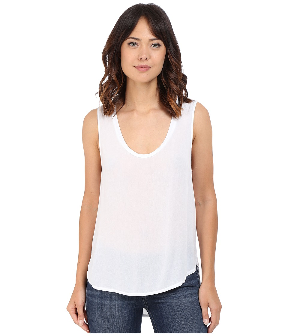 Lanston - The Mercer Tank Top (White) Women's Sleeveless