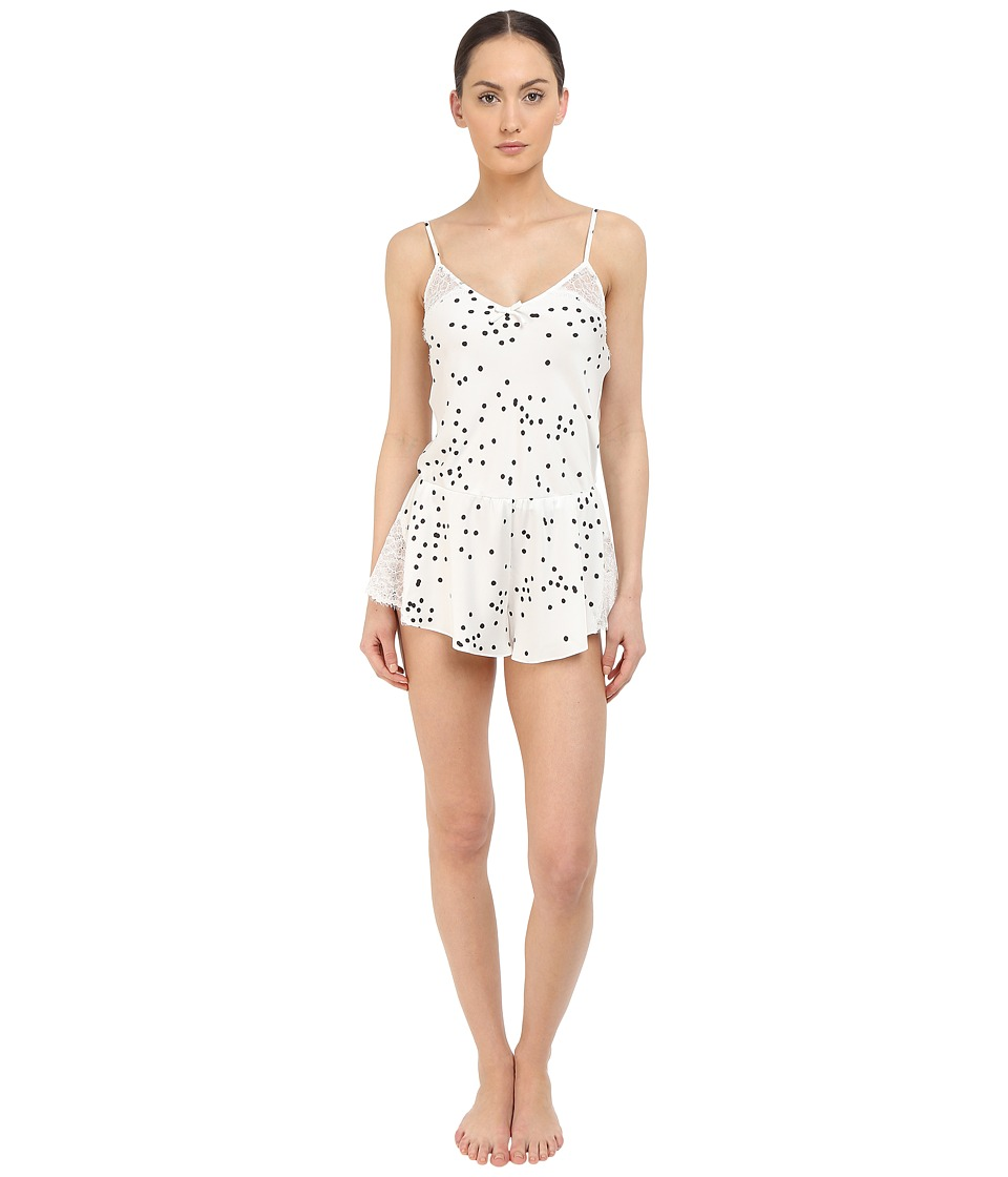 Kate Spade New York - Charmeuse Teddy (Bridal Dot Off-White) Women's Lingerie