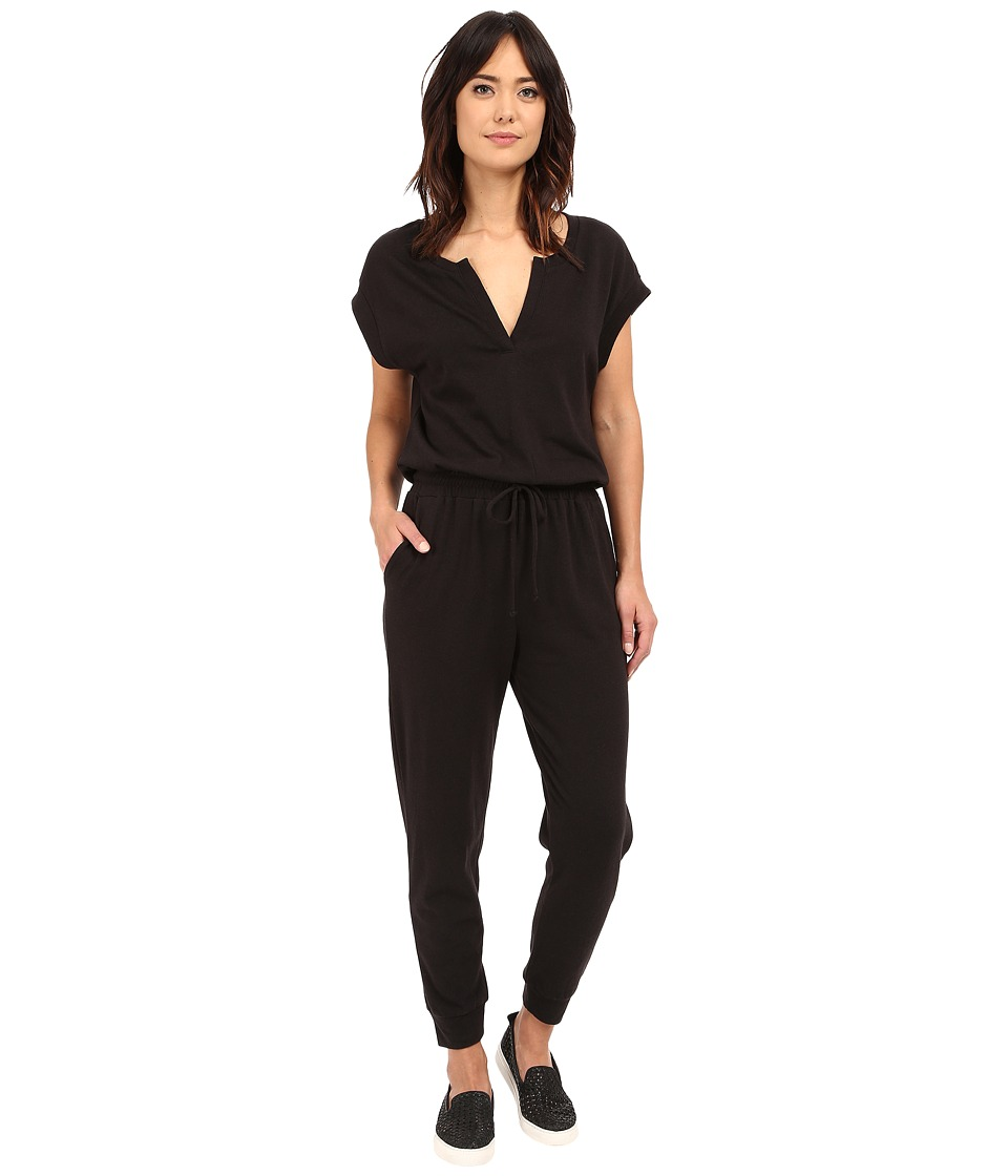 Lanston - The Fleece Jumpsuit (Black) Women's Jumpsuit & Rompers One Piece