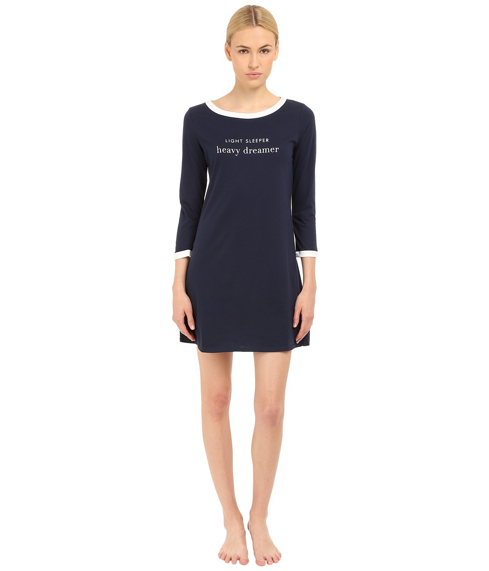 Kate Spade New York - Light Sleeper Heavy Dreamer Sleep Shirt (Navy) Women's Pajama