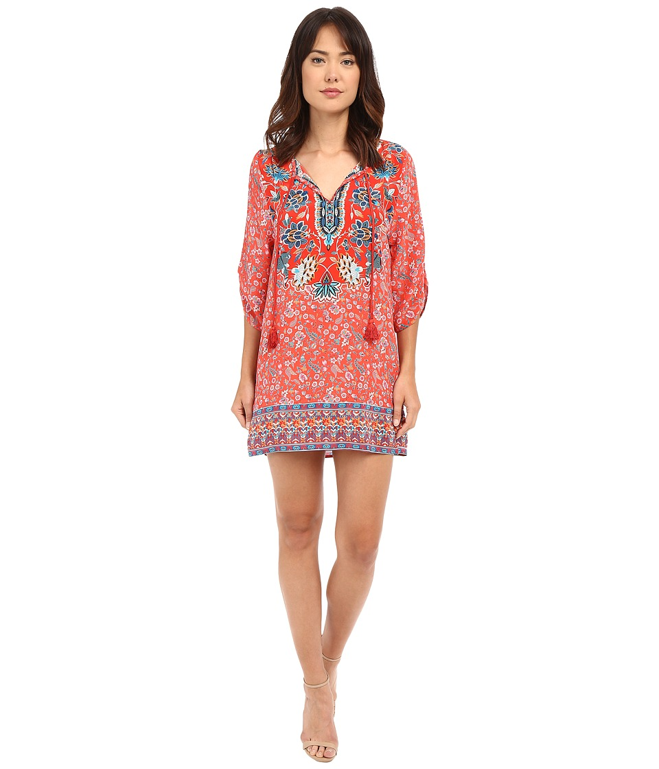 Tolani - Sandy Tunic Dress (Coral) Women's Dress