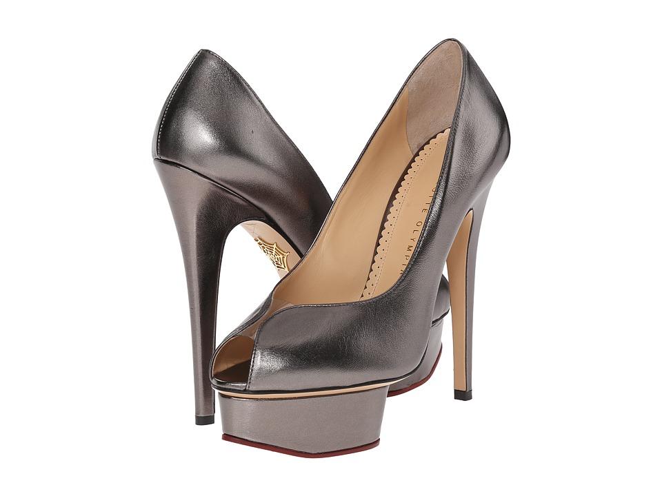 Charlotte Olympia - Daphne Platform (Gunmetal Metallic Nappa) High Heels