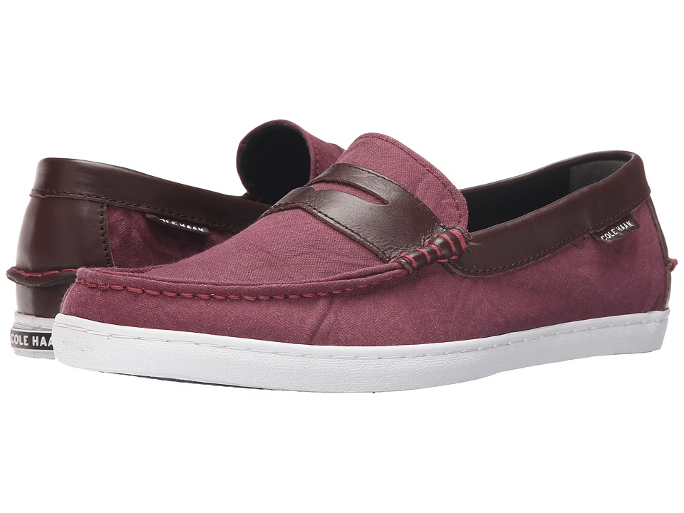 Cole Haan - Pinch Weekender (Tawny Port Canvas/Chestnut Leather) Men's Slip on Shoes