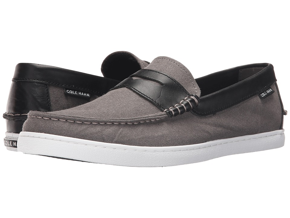 Cole Haan - Pinch Weekender (Storm Cloud Canvas/Black Leather) Men's Slip on Shoes