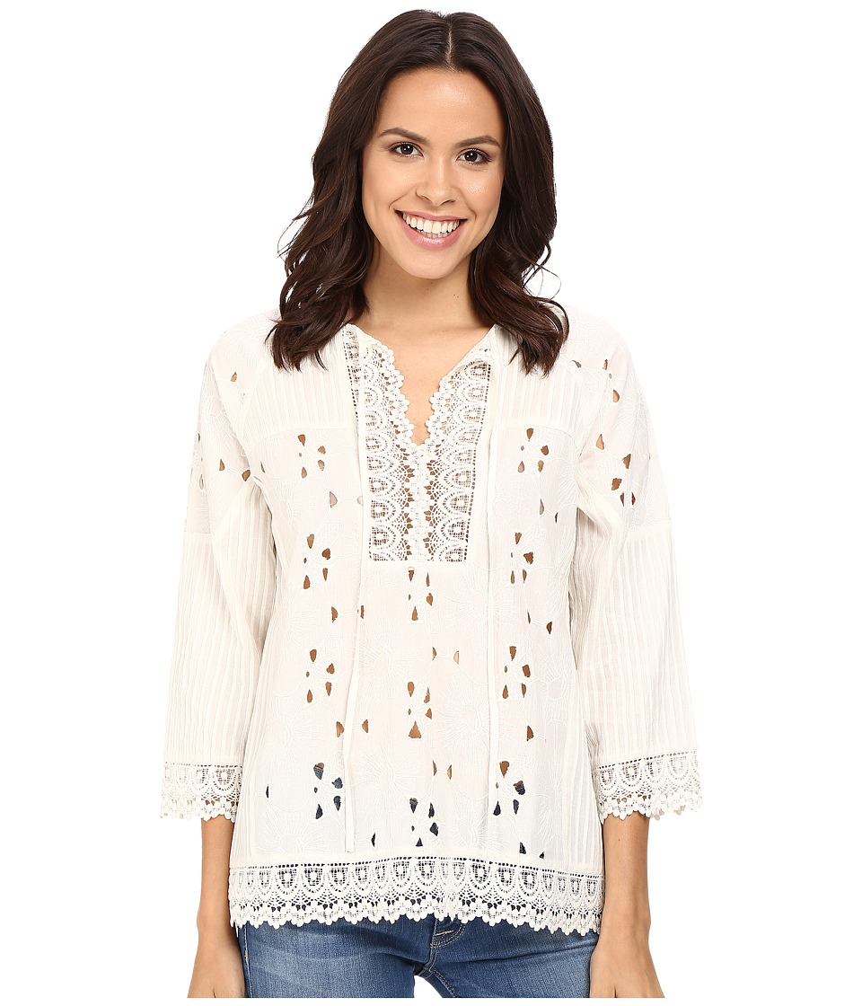 Tolani - Tanya Opt 1 Lace Top (Ivory) Women's Blouse
