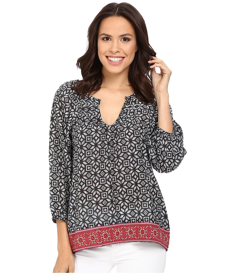 Tolani - Victoria Long Sleeve Blouse (Noire) Women's Blouse