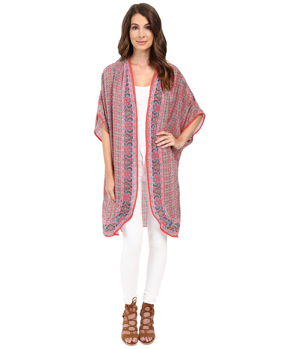 Tolani - Anyra Kimono (Coral) Women's Blouse
