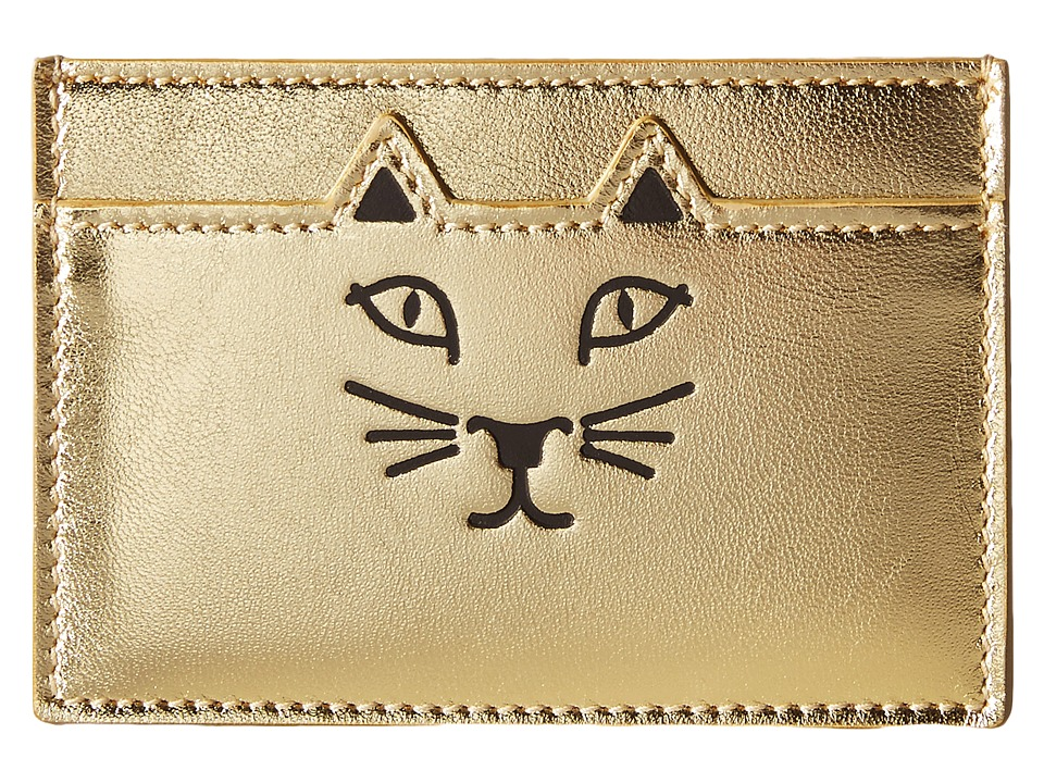 Charlotte Olympia - Feline Card Holder (Gold) Credit card Wallet