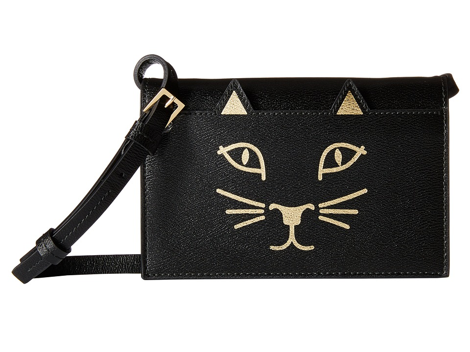 Charlotte Olympia - Feline Purse (Black) Wallet Handbags