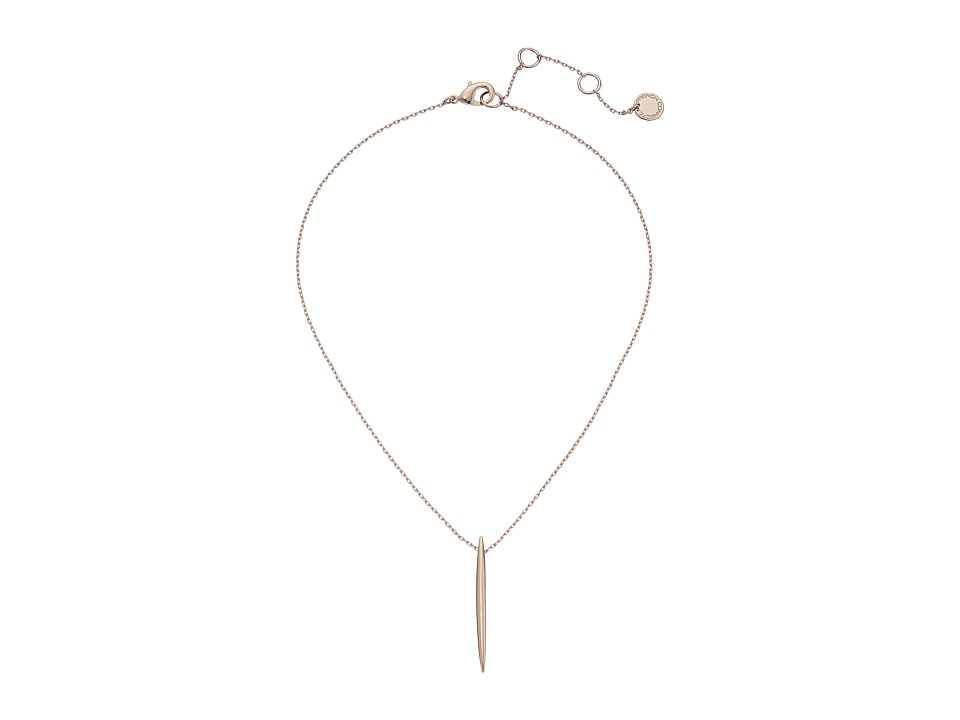 French Connection - Spike Pendant Necklace (Rose Gold) Necklace