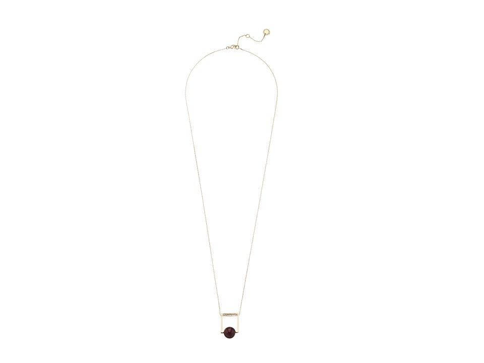French Connection - Orbital Bead Pendant Necklace (Gold/Purple) Necklace