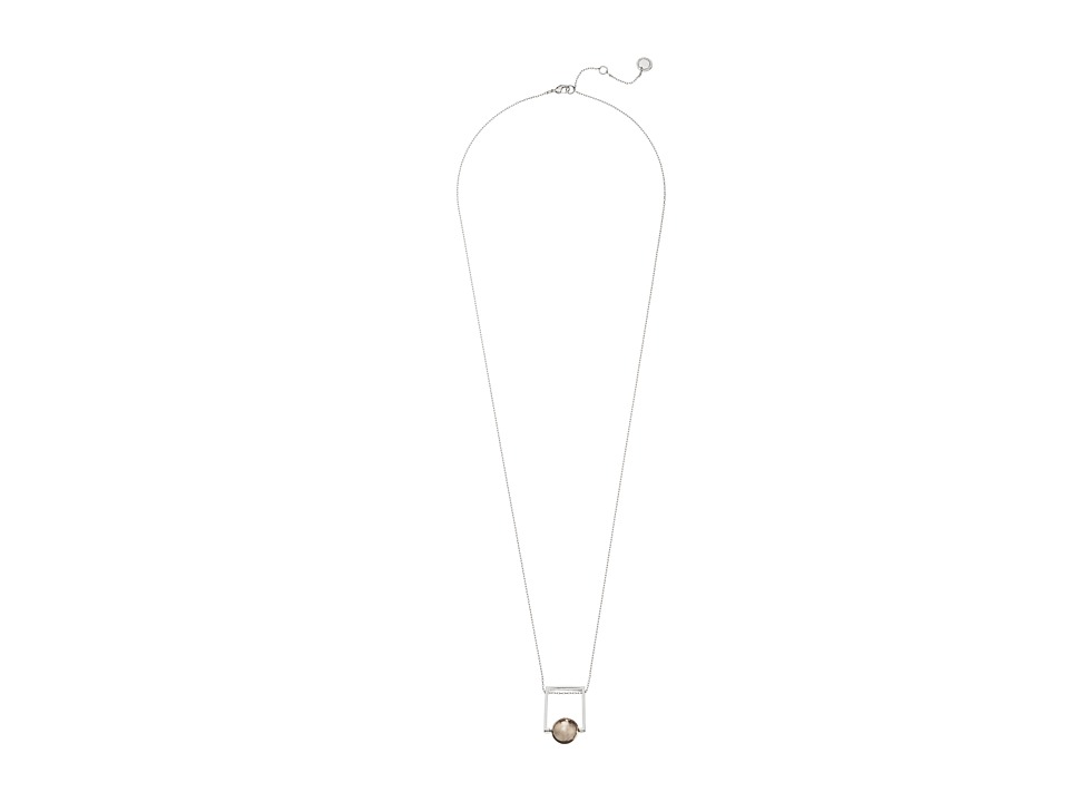 French Connection - Orbital Bead Pendant Necklace (Silver/Rose Gold) Necklace