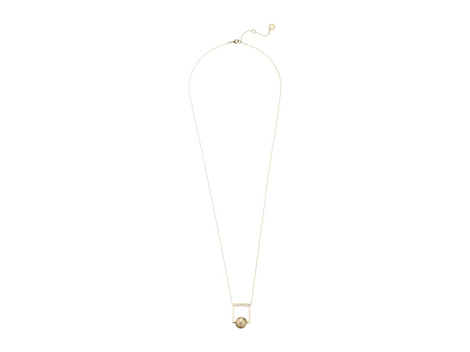 French Connection - Orbital Bead Pendant Necklace (Gold/Matte Gold) Necklace