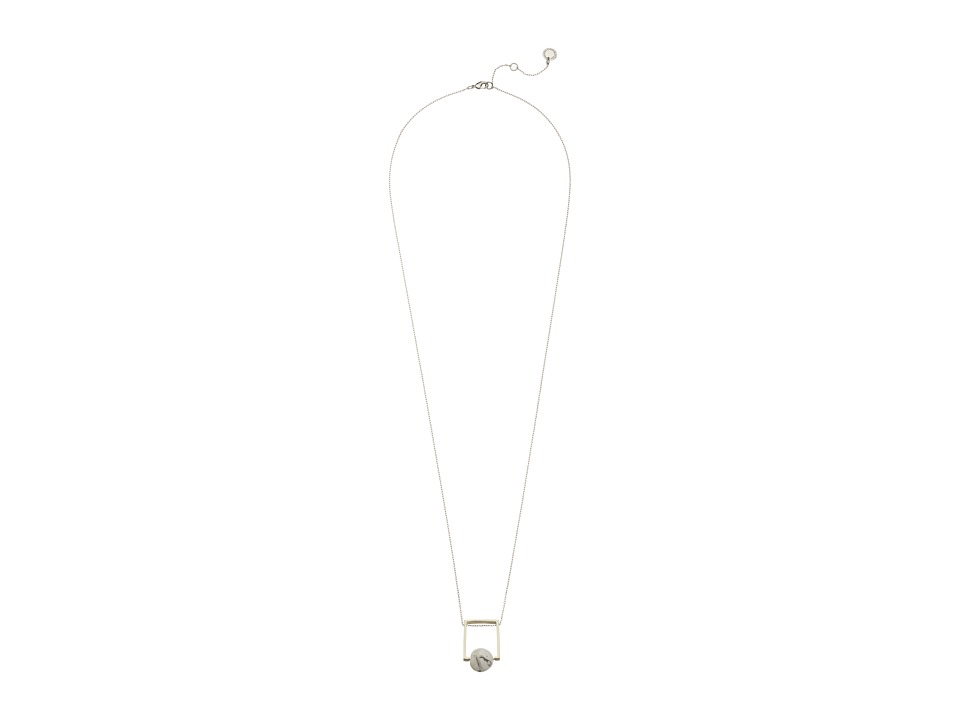 French Connection - Orbital Bead Pendant Necklace (Matte Gold/Silver/White) Necklace
