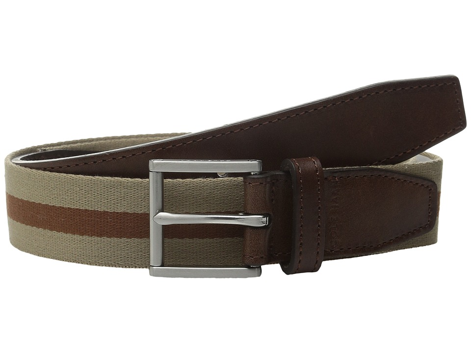 Cole Haan - 35mm Webbing Belt with Leather Tabs and Loop (Dune/Woodbury) Men's Belts