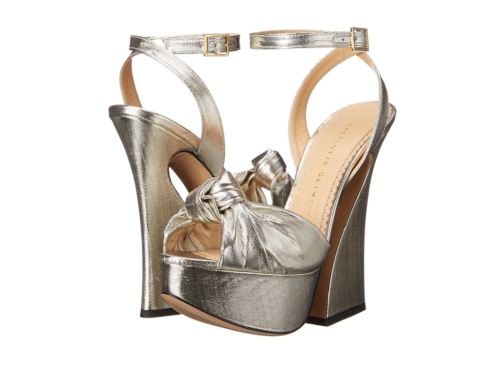 Charlotte Olympia - Vreeland (Silver Lame) High Heels