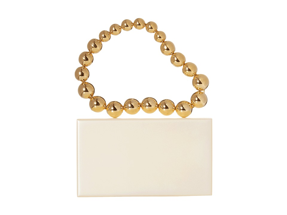Charlotte Olympia - Necklace Pandora (White/Gold) Tote Handbags
