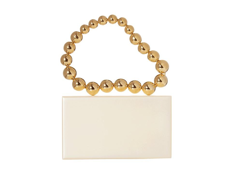 Charlotte Olympia - Necklace Pandora (White/Gold) Tote Handbags