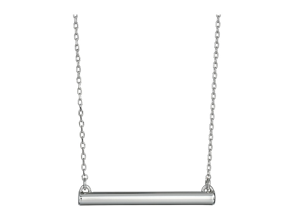 French Connection - Tube Pendant Necklace (Silver) Necklace