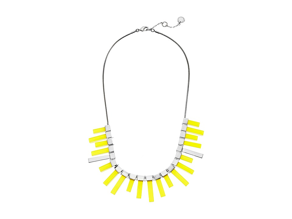 French Connection - Radial Frontal Necklace (Silver/Yellow) Necklace