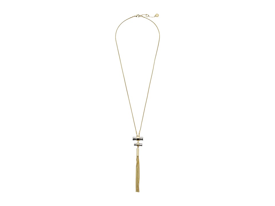 French Connection - Tube Tassel Necklace (Gold/Silver) Necklace
