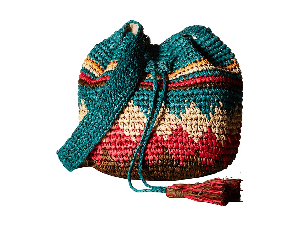 Hat Attack - Moroccan Drawstring (Multi) Cross Body Handbags