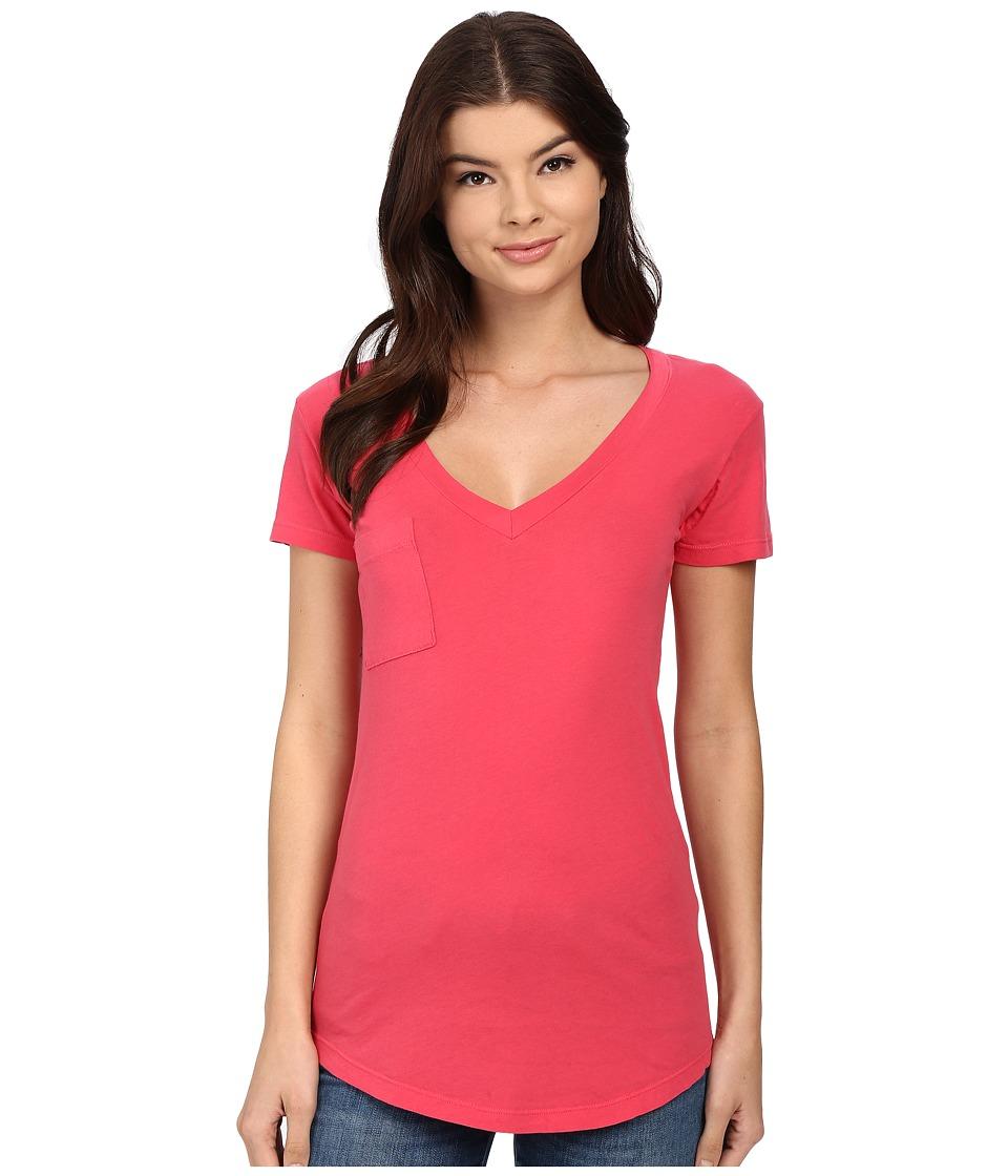 LAmade - V-Pocket Tee - Tissue Jersey (Rosso) Women's Short Sleeve Pullover