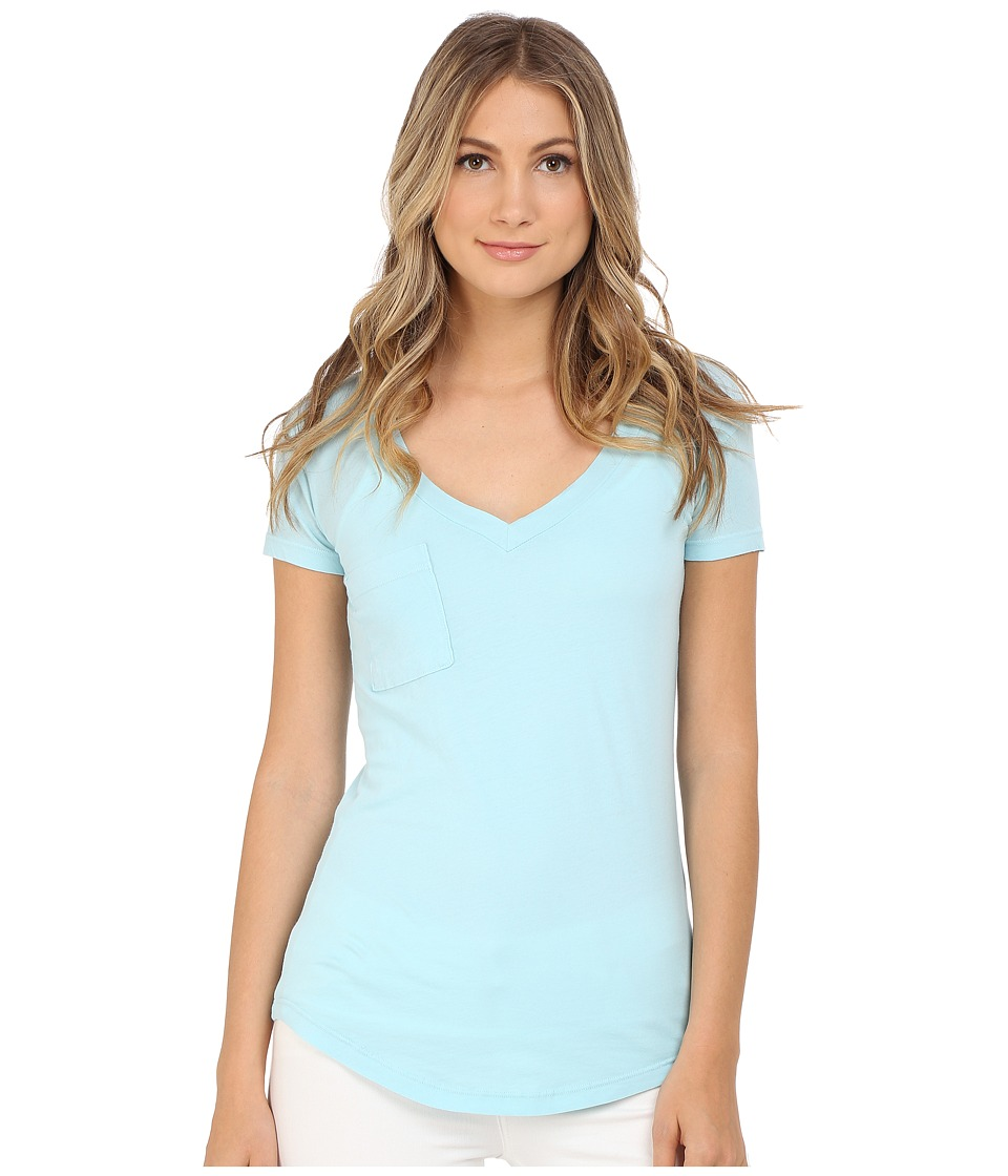 LAmade - V-Pocket Tee - Tissue Jersey (Blue Frost) Women's Short Sleeve Pullover