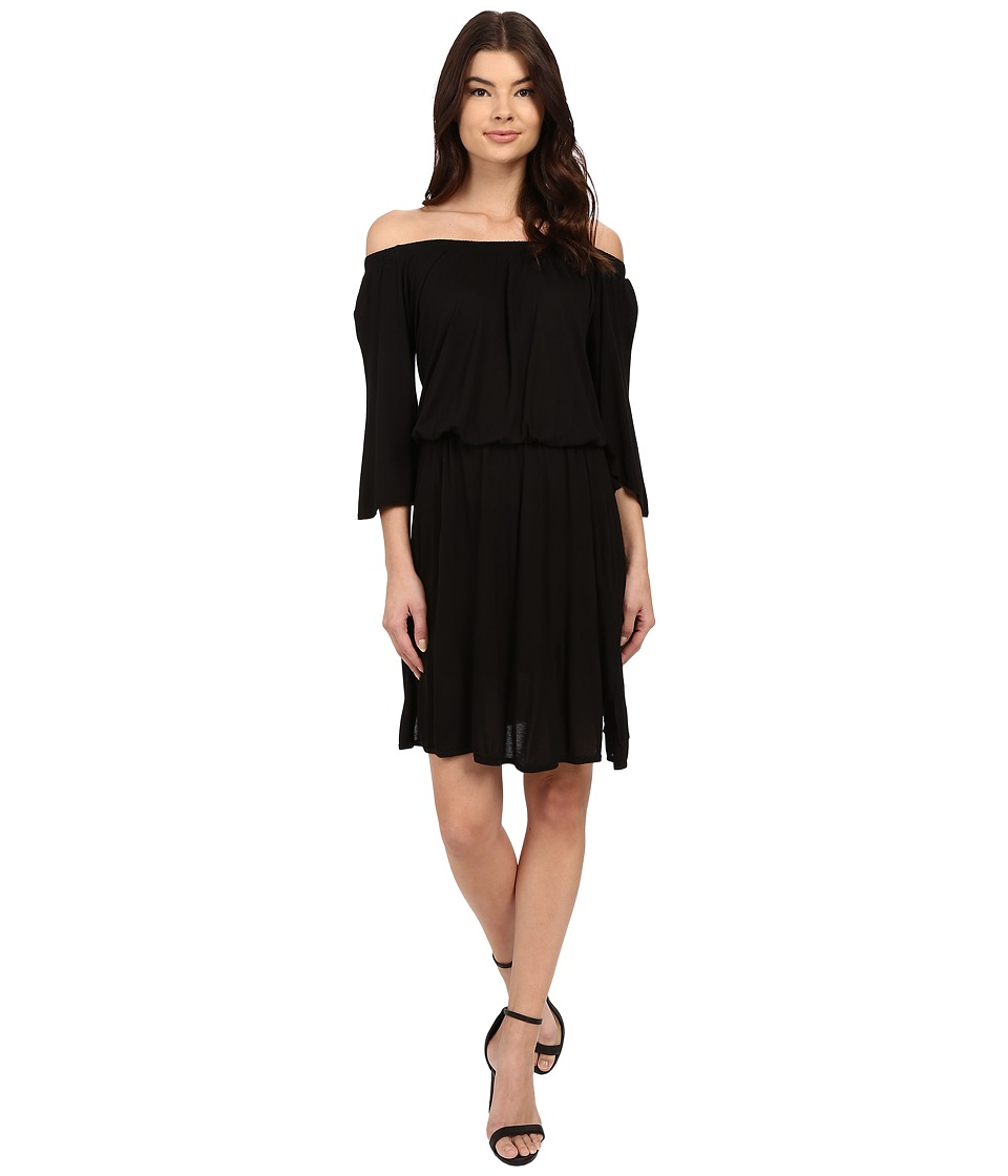 LAmade Lucia Off Shoulder Dress (Black) Women