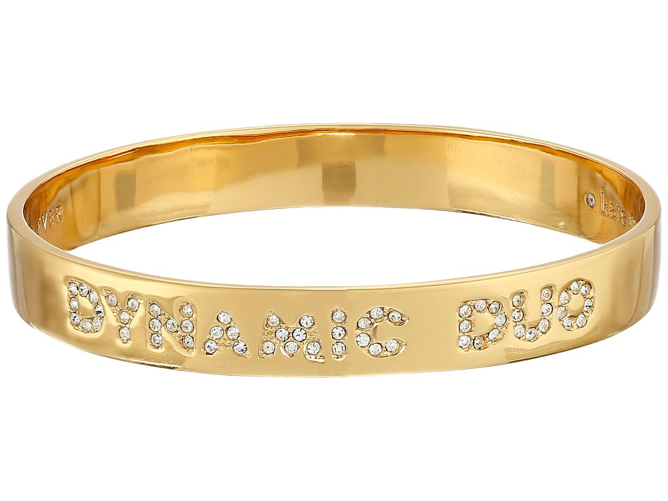 Kate Spade New York - Dynamic Duo Idiom Bangle (Clear/Gold) Bracelet