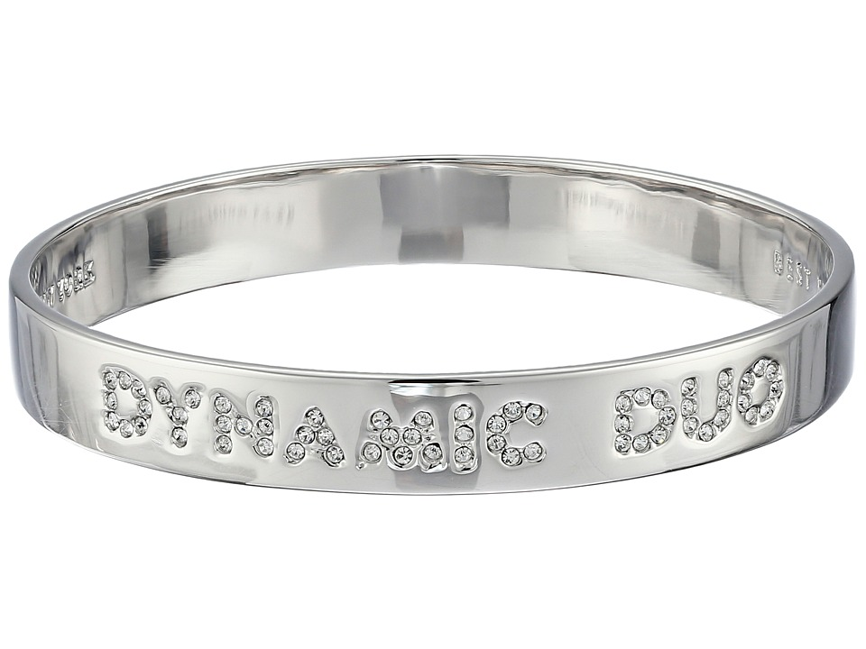 Kate Spade New York - Dynamic Duo Idiom Bangle (Clear/Silver) Bracelet