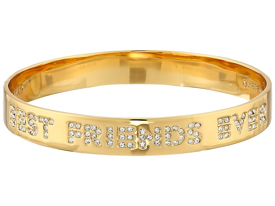 Kate Spade New York - Best Friends Ever Idiom Bangle (Clear/Gold) Bracelet