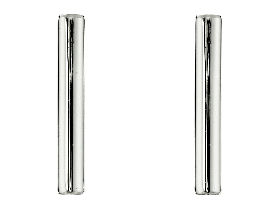 French Connection - Tube Stud Earrings (Silver) Earring