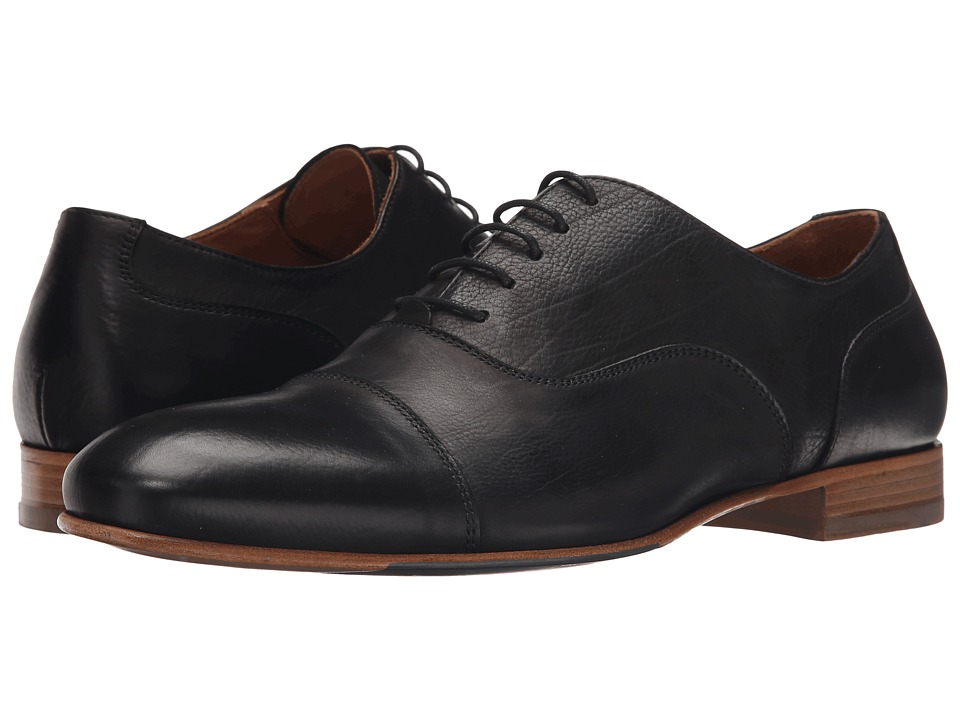 Massimo Matteo - Cap Toe Bal (Black) Men's Lace Up Cap Toe Shoes