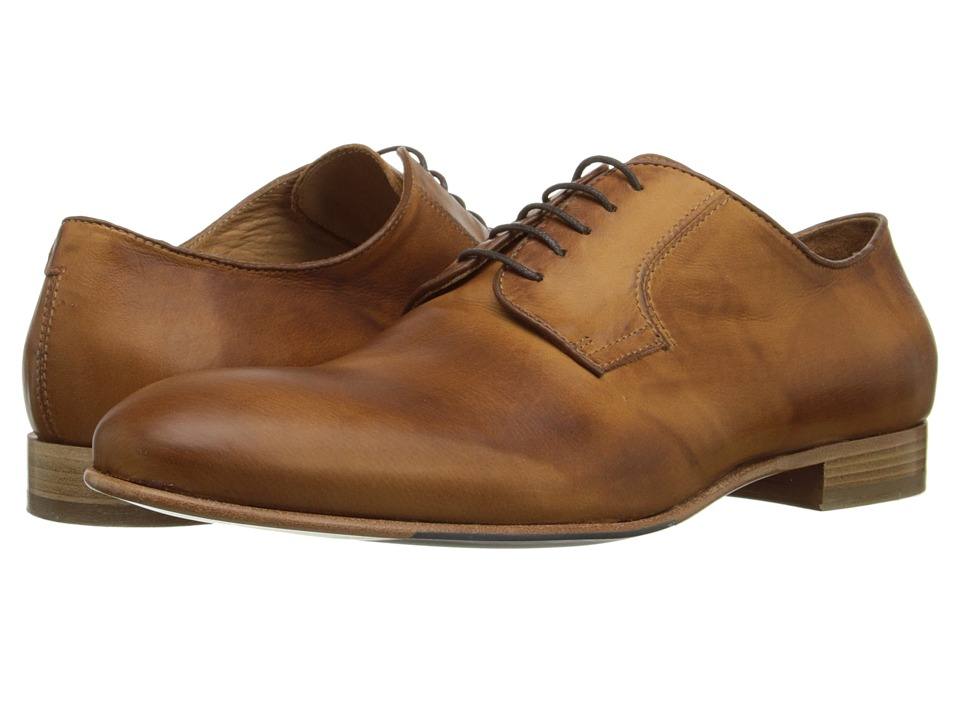 Massimo Matteo - Plain Toe (Burnished Tan) Men's Plain Toe Shoes