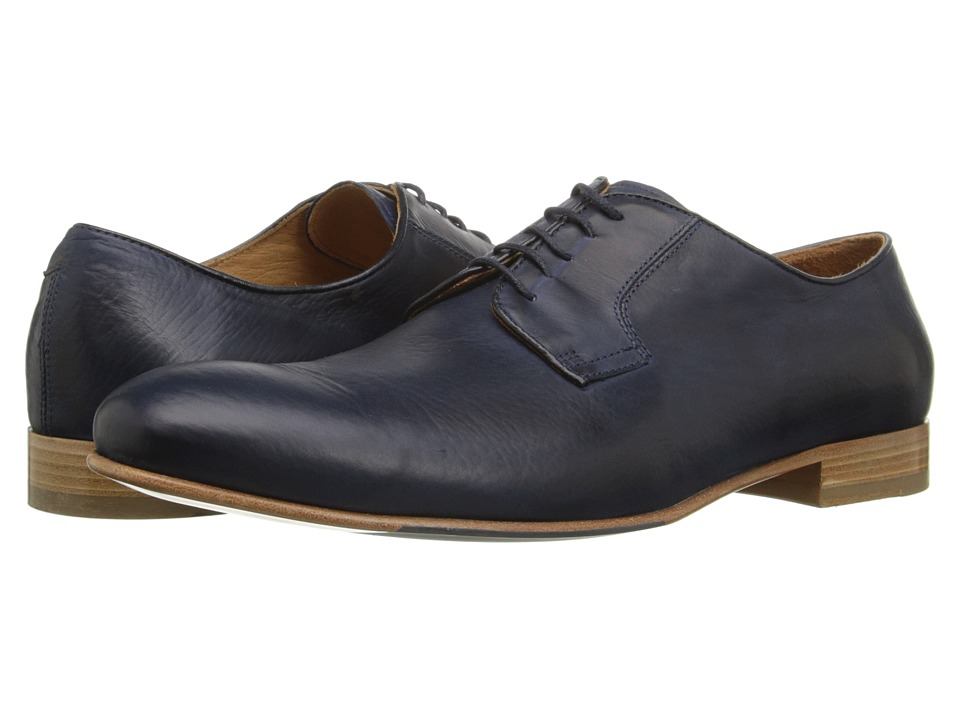 Massimo Matteo - Plain Toe (Blue) Men's Plain Toe Shoes
