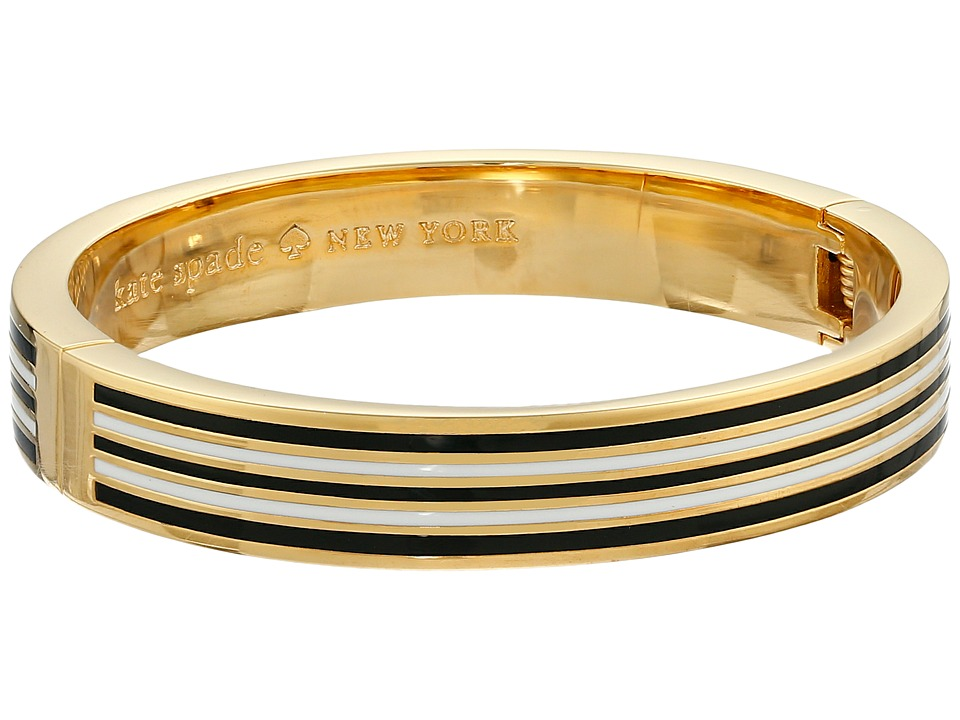 Kate Spade New York - Perfect Harmony Hinged Idiom Bangle (Black/Cream) Bracelet