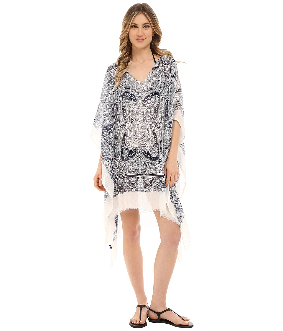 Hat Attack - Paisley Poncho (Navy) Women's Swimwear